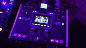 Tools of the DJ trade: my IDJ deck on the side of the Mainstage.